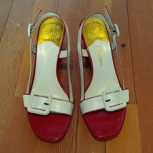 Cole Haan Woman's Red Wedge Shoes